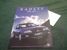 1988 OPEL KADETT GSi 16V / VAUXHALL ASTRA GTE BROCHURE 16 Valve
