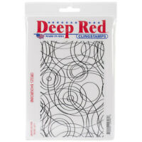 "Deep Red Cling Stamp 5""X7""-Circles Background, 5X700047"