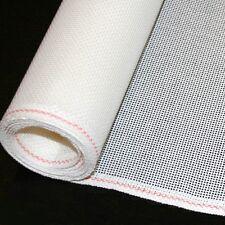 Mono Blank Needlepoint Canvas WHITE 18-mesh Orange line Zweigart sold PER 1/4 yd