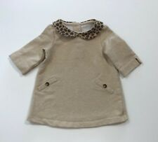 Janie And Jack Derby Darling Collared 3/4 Sleeve Dress Size 6-12 Months