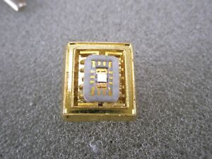 -Integrated Circuit Board Chip Vintage Tie Tack Lapel Pin wafer silicon logic