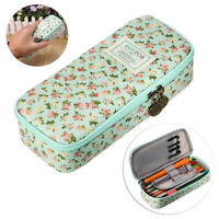 Cute Pencil Case Large Capacity Floral Pencil Stationery Organizer Cosmetics Bag