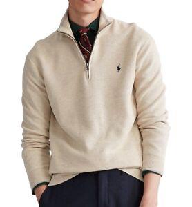 POLO Ralph Lauren Mens 2XLT Big & Tall 1/2 Zip Pullover Sweater Beige Cotton New