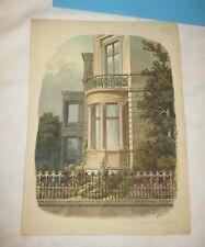 1880 meisterliches AQUARELL geheimer Baurath W. Spehr - VILLA mit Auslucht