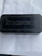 Vintage New Home Attachments Sewing Machine Accessories Tools in Metal Box Case