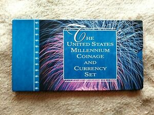 "2000 U S MILLENNIUM COINAGE AND CURRENCY SET LOW 3 DIGIT # ""E 20000174 A"""