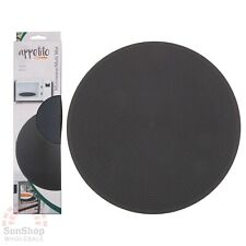 2x Appetito 30cm Multi Functional Non Slip Round Silicone Microwave Oven Mat Pad