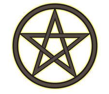 Interior Window Car Sticker WITCH broom wicca wiccan pentacle pentagram bumper 1