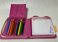 Pklolino Writing Pad Colored Pencils Zippered Case