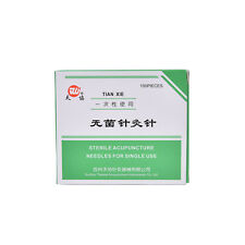 1Pk Pop 100 Pcs Sterile Acupuncture Needles Disposable Sterile Spring Handle ATA