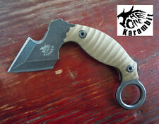 THEONE CNC Claw Karambit Stone Wash AUS-8 Blade G10 Handle Camping Outdoor Knife