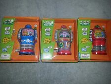 Uglydoll Uglybots 3 in lot Blue, Green and Red tin toy robots 2010