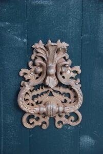 Door Knocker Cast Iron Ornate Rustic Antique Style