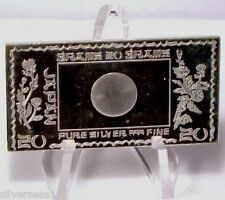 JAPAN ~ NATIONAL FLAG ~ 20 GRAM ~ FROSTED / PROOF LIKE ~ SILVER MINT ART BAR