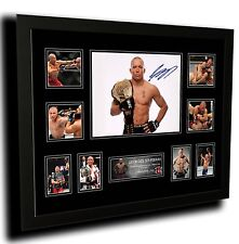 GEORGES ST PIERRE SIGNED LIMITED EDITION FRAMED MEMORABILIA