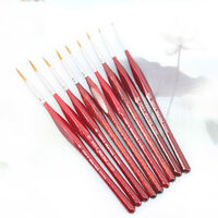 6Pcs Detail Paint Brush Acrylic Oil Artist Watercolor Painting Brushes Supplies