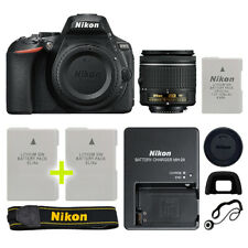 Nikon D5600 Digital SLR Camera with 18-55mm NIKKOR VR Lens + Backup Power Kit