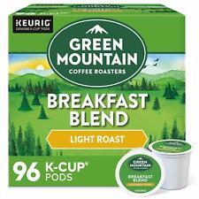 Green Mountain Coffee Breakfast Blend, Keurig K-Cup Pod, Light Roast - 96ct
