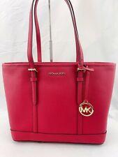 NWT Michael Kors Jet Set Travel Small Top Zip Shoulder Tote Bag Scarlet