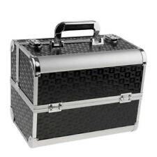 Premium Aluminum Makeup Train Jewelry Storage Box Cosmetic Lockable Case