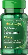 Selenium 200 mcg x 100 Tablets Puritans Pride * AMAZING PRICE *