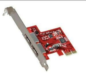 StarTech 2 Port SATA 6 Gbps PCI Express eSATA Controller Card - NEW IN BOX