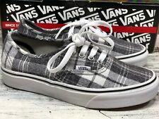 Vans Skate Shoes Skateboard Authentic Grey Plaid Sneakers Men's 5 / Women's 6.5