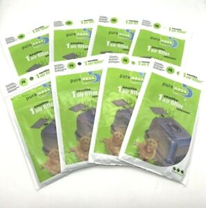 Pureness F6 Zeolite Odor Air Filter Replacement Van Ness Litter Box Lot of 8 Pkg