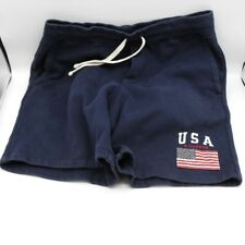 Polo Ralph Lauren USA American Flag Patch Shorts Navy Blue size Small sweatpants
