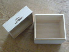 Beatles:SHM Wood Disk Union Empty Promo Box 12cm[Japan Mini-LP no cd mccartney Q