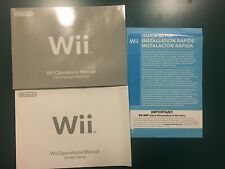 Nintendo Wii System Setup Console User Operations Manualssettings channels
