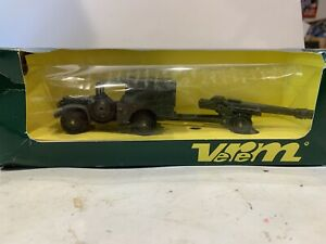 Verem/solido 1/50 dodge 4 x 4 military with canon new in box Rare Ref V 9532