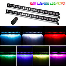2X RGB 24*3W LED Bühnenbeleuchtung Washer Licht Bar DMX Show Club Party +Remote