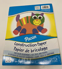 36 Sheets Construction Paper 9inx12in