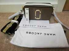 BNWT Marc Jacobs Logo Strap Snapshot Small Camera French Grey Cross Body Bag