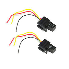 HS 2Pack 12V Relay & Socket For Electric Fan Fuel Pump Horn Car Kit 4Pin 4 Wire