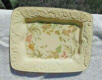 Vintage Lenox Nature's Impressions Ivory Platter Tray 11 x 8 11/16