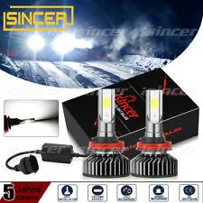 2× H11 380W Canbus LED Scheinwerfer Kit Fern- Abblendlicht DRL Birne Lampe 6500K