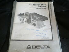 """Delta 4"""" Belt / 6"""" Disc  Sander Model No. 31-460  Instruction Manual"""