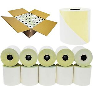 Two Ply Carbonless Rolls, 3 X 90 Feet, White/Canary, Kitchen Printer Paper