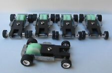 5 JL THUNDERJETS PULL BACK SLOT CAR SNAP FIT BODY DISPLAY CHASSIS AUTO WORLD AFX
