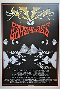 Psychedelic concert poster Earthless west tour 13x19 artist proof signed limited