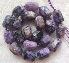 13x18mm Natural Charoite Faceted Nugget Loose Beads 15.5""