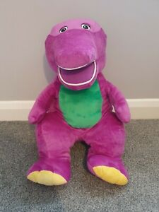 """Vintage 2007 Extra Large Barney The Dinosaur Plush Teddy Toy 25"""" Approx Rare"""