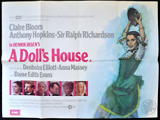 DOLL'S HOUSE 1973 Claire Bloom, Anthony Hopkins, Ralph Richardson UK QUAD POSTER