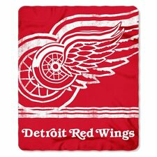 "NHL Detroit Red Wings License Fleece Throw Blanket 50"" x 60"" Hockey"