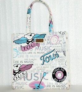 Authentic TOUS Women's Multicolor Patent Leather Tote Bag Handbag Large