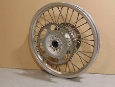 "1992 YAMAHA WR200 WR200RD 18"" REAR WHEEL ASSEMBLY HUB SPOKES RIM SPROCKET ROTOR"