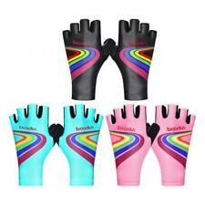 Riding Bike Cycling Gloves Children Half-Finger Silicone Pad Racing Mitten Kids