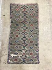 Antique Ottoman LAINE & METAL BRODERIE TAILLE: 89x44